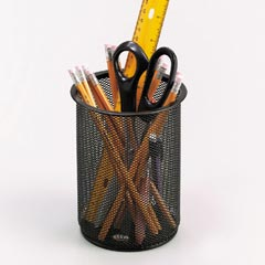 Eldon 22301: Expressions Wire Mesh Jumbo Pencil Holder, Black