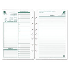 Franklin Covey 35420: Original Planning Pages Daily 1 Year April till March 5.50 x 8.50 Green, White