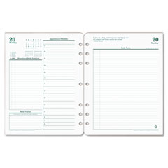 Franklin Covey 35428: Original Planning Pages Daily 1 Year April till March 8.50 x 11 Green, White