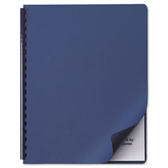 GBC 2001513: GBC Linen Weave Standard Covers for Letter 8 1/2 x 11 Sheet Navy 50 / Pack