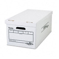 Perma 03312: Stor-All Quickfold Storage Box, Letter, 12 x 24 x 10, White