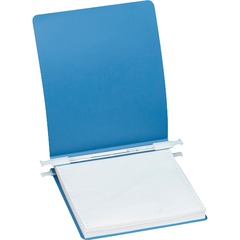 ACCO 56123: ACCO 23 pt. ACCOHIDE Covers with Storage Hooks, for Unburst Sheets, 11 x 8 1/2 Sheet Size, Blue 6 Binder Capacity Letter 8 1/2 x 11 Sheet Size Pressboard Blue Recycled..