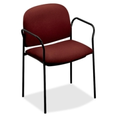 HON 4051AB62T: Multipurpose Stacking Arm Chairs, Burgundy, 2 / carton
