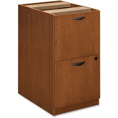 Basyx BW2163HH: BW Series File / File Pedestal 15.6 x 22 x 27.8 2 Beaded Edge Material Veneer, Wood Finish Bourbon Cherry