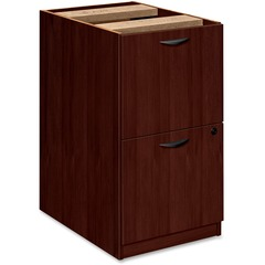 Basyx BW2163NN: BW Series File / File Pedestal 15.6 x 22 x 27.8 2 Beaded Edge Material Veneer, Wood Finish Mahogany