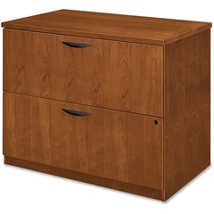 Basyx BW2170HH: BW Series Two Drawer Lateral File 36 x 24 x 29 2 Beaded Edge Material Veneer, Wood Finish Bourbon Cherry