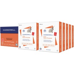 Hammermill 103275: Punched Multipurpose Paper Letter 8 1/2 x 11 20 lb Basis Weight 5000 / Carton White