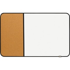 Post-it 558BBDE: Sticky Cork Dry Erase Board, 22 x 34, Black Gray, Includes Post-it Marker 34 2.8 ft Width x 22 1.8 ft Height Cork / White Cork / Melamine Surface Black Plastic Frame Rectan..