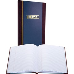 Wilson Jones S30015R: S300 Record Ruled Account Journal 150 Sheet s 7 1/4 x 11 3/4 Sheet Size Blue White Sheet s Blue Cover 1 Each