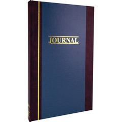 Wilson Jones S3003J: S300 2-Column Journal 300 Sheet s 7 1/4 x 11 3/4 Sheet Size White Sheet s Blue Cover 1 Each
