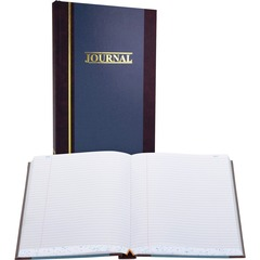 Wilson Jones S3005R: S300 Record Ruled Account Journal 500 Sheet s 7 1/4 x 11 3/4 Sheet Size Blue White Sheet s Blue Cover 1 Each
