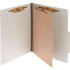ACCO 15054: ACCO Pressboard 4-Part Classification Folders, Letter, Gray, Box of 10 2 Folder Capacity Letter 8 1/2 x 11 Sheet Size 4 Fastener s 1 Fastener Capacity 4 Divider s 4 pt. Fol..