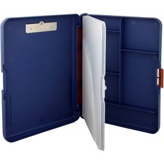 Saunders 00475: WorkMate II Divided Section Poly Clipboard Stationary 10 21/32 x 13 2/5 Low-profile Polypropylene Blue 1 Each