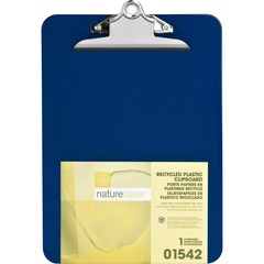 Nature Saver 01542: Recycled Plastic Clipboards 1 Clip Capacity 8 1/2 x 12 Heavy Duty Plastic Blue 1 / Each
