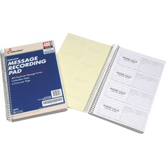 Skilcraft 3576830: Executive Message Recording Pad 400 Sheet s Spiral Bound Carbonless Copy 2.62 x 6.25 Form Size 1 Each