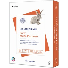 Hammermill 103275RM: Hammermill Fore Multipurpose Paper, 3 Hole 1 Ream / 500 Sheets Letter Size, 20lb, 96 Bright Copy Paper