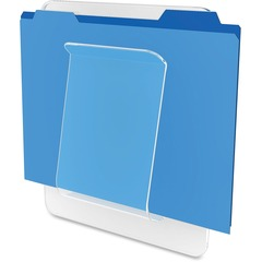 Deflect-o 65501: Wall Mount File Chart Holder 10.5 Height x 10 Width x 2 Depth Wall Mountable Clear Plastic 1Each