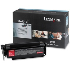 Lexmark 12A7315: Toner Cartridge Laser High Yield 10000 Pages Black 1 Each