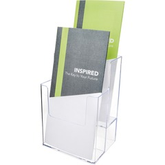 Deflect-o 77201: Multi-Compartment DocuHolder Extra-Deep Leaflet Display 7 x 4.5 x 3.8 x Plastic 1 Each Clear