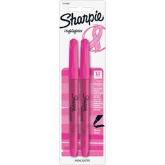 Sharpie 1741909: Pink Ribbon Pocket Style Highlighters, Chisel Tip, Pink, 2 / Pack