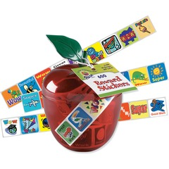 Pacon 51480: Plastic Apple Reward Stickers 1 Height x 1 Width x 4 Length Red Plastic 600 / Pack