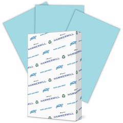 Hammermill 103317: Hammermill Fore Super Premium Paper Legal 8 1/2 x 14 20 lb Basis Weight Recycled 30 Recycled Content 500 / Ream Blue