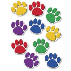 Teacher Created Resources 4114: Colorful Paw Prints Accent 8.50 Height x 7 Width Assorted 30 / Pack