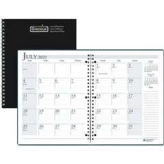 House of Doolittle 26302: Black Cover Academic Monthly Planner Monthly 1.2 Year July 2019 till August 2020 1 Month Double Page Layout 8 1/2 x 11 3-ring Black