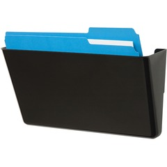 Deflect-o 73204: Stackable DocuPocket 1 Pocket s 7 Height x 13 Width x 4 Depth Black Plastic 1Each