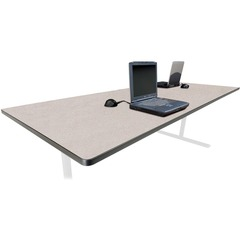 Bretford RECTP4220NB: Laminate Conference Table Top Rectangle Top 10 ft Table Top Length x 42 Table Top Width x 0.12 Table Top Thickness 29 Height Assembly Required