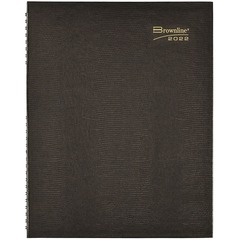 Brownline CB960BLK: CoilPro Daily 4-Person Professional Appointment Book Yes Daily 1 Year January 2020 till December 2020 7 00 AM to 8 45 PM 11 x 8 1/2 Twin Wire Paper Black Appointment Schedule,..