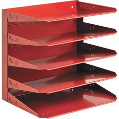 SteelMaster 26425L007: Soho 5-tier Horizontal Organizer 5 Tier s 12.1 Height x 12 Width x 8.8 Depth Desktop Recycled Red Steel 1Each