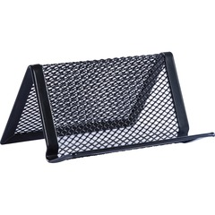 Lorell 84151: Black Mesh / Wire Business Card Holder 1.8 x 3.9 x 2.8 x Steel 1 Each Black