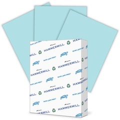 Hammermill 103671: Paper for Copy 8.5 x 11 Laser, Inkjet Colored Paper 30 Recycled Letter 8 1/2 x 11 24 lb Basis Weight Smooth 500 / Ream Blue