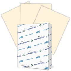 Hammermill 104406: Paper for Copy Laser, Inkjet Print Colored Paper 30 Recycled Letter 8 1/2 x 11 24 lb Basis Weight Smooth 500 / Ream Ivory