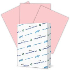 Hammermill 104463: Paper for Copy 8.5 x 11 Laser, Inkjet Colored Paper 30 Recycled Letter 8 1/2 x 11 24 lb Basis Weight Smooth 500 / Ream Pink
