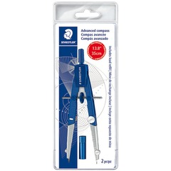 Staedtler 550WP01: 2-piece Advanced Student Compass Metal, Plastic Blue, Silver 1 Each