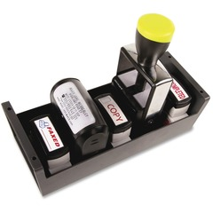 AccuStamp 086211: Standard Stamp / Dater Storage Tray 6 x Stamp 3 Height x 3.6 Width x 8.9 Depth Desktop Gray Plastic 1Each