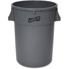 Genuine Joe 11581: 44-gal Heavy-duty Trash Container 44 gal Capacity 24 Height x 31.5 Width x 24 Depth Gray