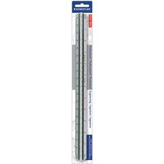 Staedtler 987M1834BK: Prof-quality Engineer s Triangular Scale 12 Length Aluminum 1 Each Silver