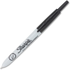 Sharpie 1735790DZ: Ultra-fine Tip Retractable Markers Ultra Fine Marker Point Black 12 / Dozen