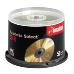 Imation 17357: Business Select Cd-R Discs, 700mb / 80min, 52x, Spindle, Gold, 50 / pack