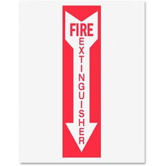 Tarifold P1949FE: Safety Sign Inserts 6 / Pack Fire Extinguisher Print / Message Rectangular Shape Red Print / Message Color Tear Resistant, Durable, Water Proof, Long Lasting White, Red
