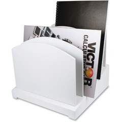 Victor W8601: W8601 Pure White Incline File 5 Divider s 8.8 Height x 9.5 Width x 9.6 Depth White Wood, Rubber 1Each