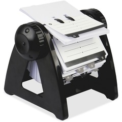 Lorell 01033: Metal Rotary Card File 250 Card Capacity Black