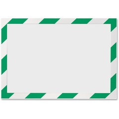 Durable 4770131: DURABLE DURAFRAME SECURITY Self-Adhesive Magnetic Letter Sign Holder Holds Letter-Size 8-1/2 x 11, Green / White, 2 Pack