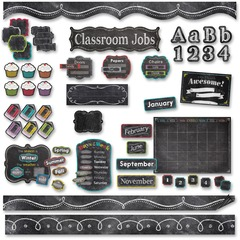 Creative Teaching Press 8881: Chalk It Up Classroom Jobs Bulletin Board Set Learning Theme / Subject Multicolor 12 / Set