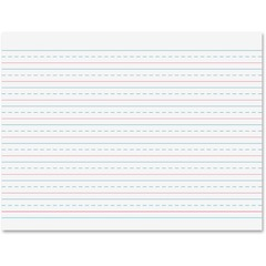 Pacon 2481: Multi-program Handwriting Tablet 40 Sheets Dotted 0.50 Ruled 10 1/2 x 8 White Paper Chipboard Cover 1 / Each