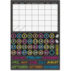 Ashley 77003: Chalkboard Design Calendar Set Fun, Scribble Chalk Theme / Subject Write on / Wipe off, Built-in Magnet 0.10 Height x 12 Width x 17 Depth Multicolor 1 / Set