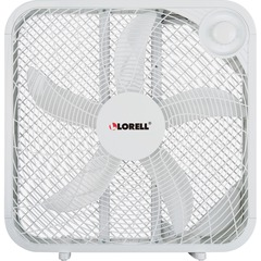 Lorell 44575: 3-speed Box Fan 3 Speed Carrying Handle 21 Height x 4.1 Width White